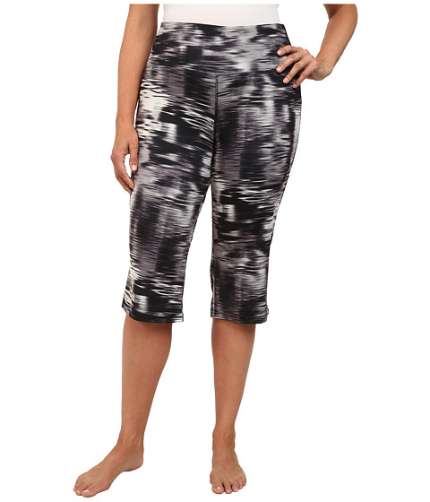 Marika Curves - Plus Size High Rise Tummy Control Capris (In Motion) Women's Workout