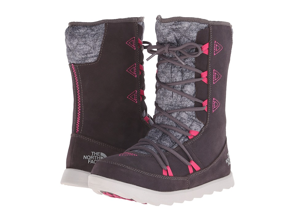 The North Face - ThermoBall Apr s Bootie (Plum Kitten Grey/Luminous Pink) Women's Cold Weather Boots