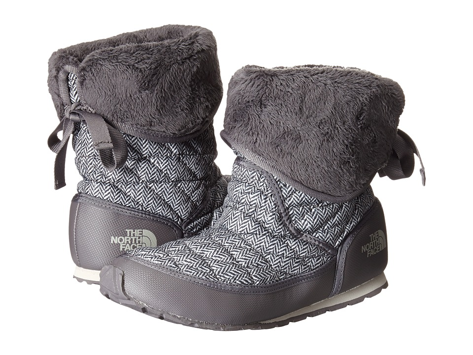 The North Face - ThermoBall Roll-Down Bootie II (TNF Black Jumbo Herringbone Print/Plum Kitten Grey) Women