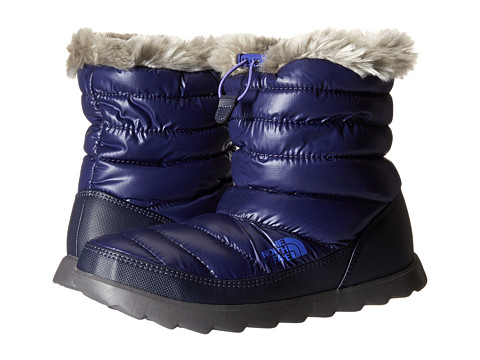 The North Face - ThermoBall Micro-Baffle Bootie (Shiny Astral Aura Blue/Blue Iris) Women's Shoes