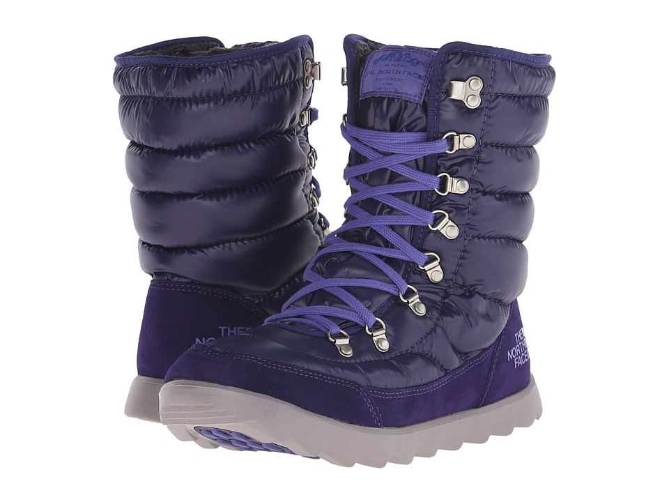 The North Face - ThermoBall Lace 8 (Shiny Astral Aura Blue/Blue Iris) Women's Cold Weather Boots