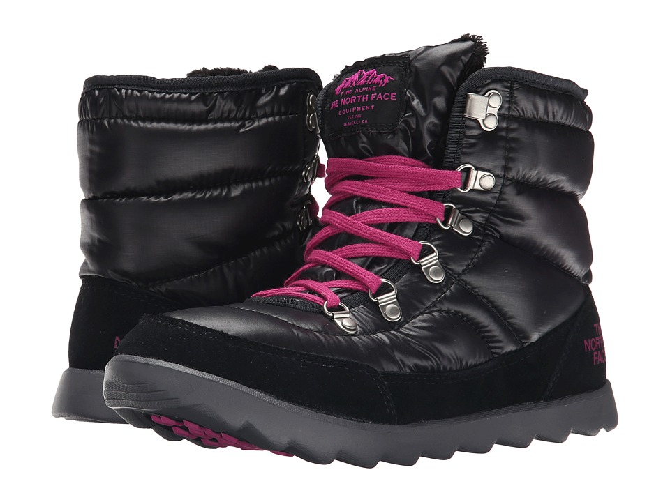 The North Face - ThermoBall Lace (Shiny TNF Black/Luminous Pink) Women
