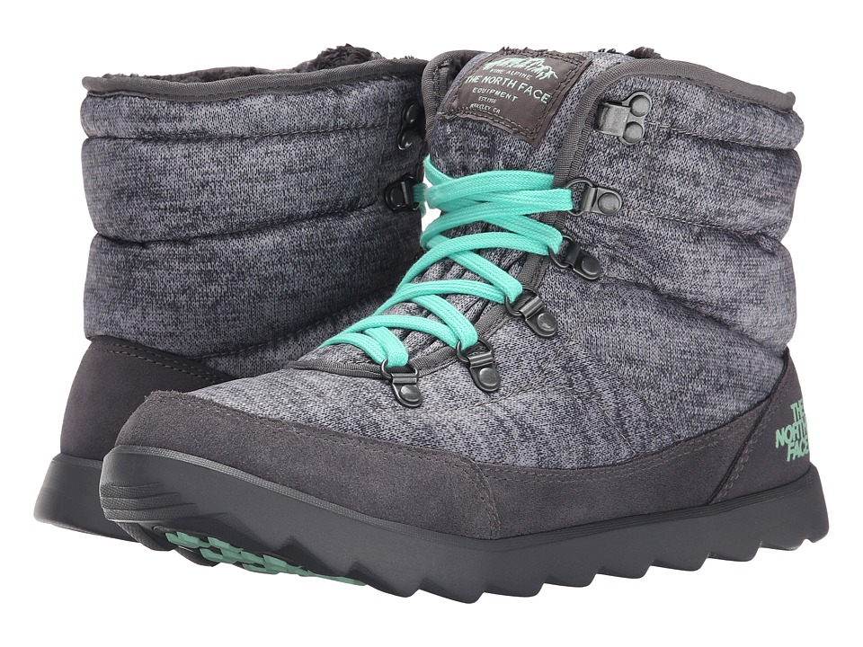 The North Face - ThermoBall Lace (Heather Grey/Surf Green) Women