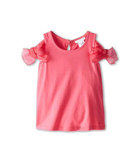 Chloe Kids - Tank Top with Tank Top with Silk Crepe Bows On Shoulder (Toddler/Little Kids) (Fuchsia) Girl