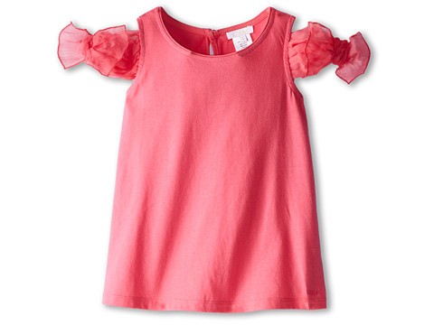 Chloe Kids - Tank Top with Tank Top with Silk Crepe Bows On Shoulder (Little Kids/Big Kids) (Fuchsia) Girl