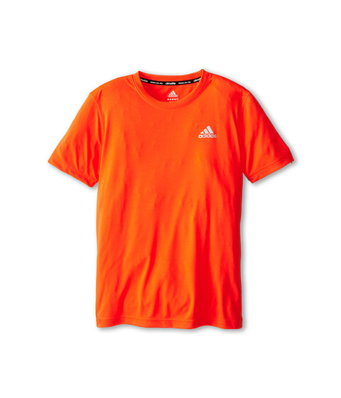 adidas Kids - Climalite S/S Tee (Little Kids/Big Kids) (Solar Red) Boy