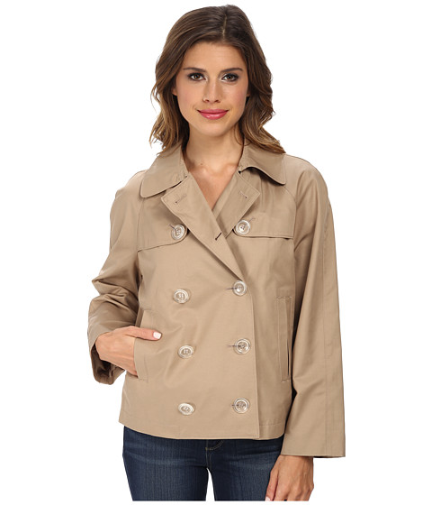 French Connection - Short Trench (Khaki) Women's Coat