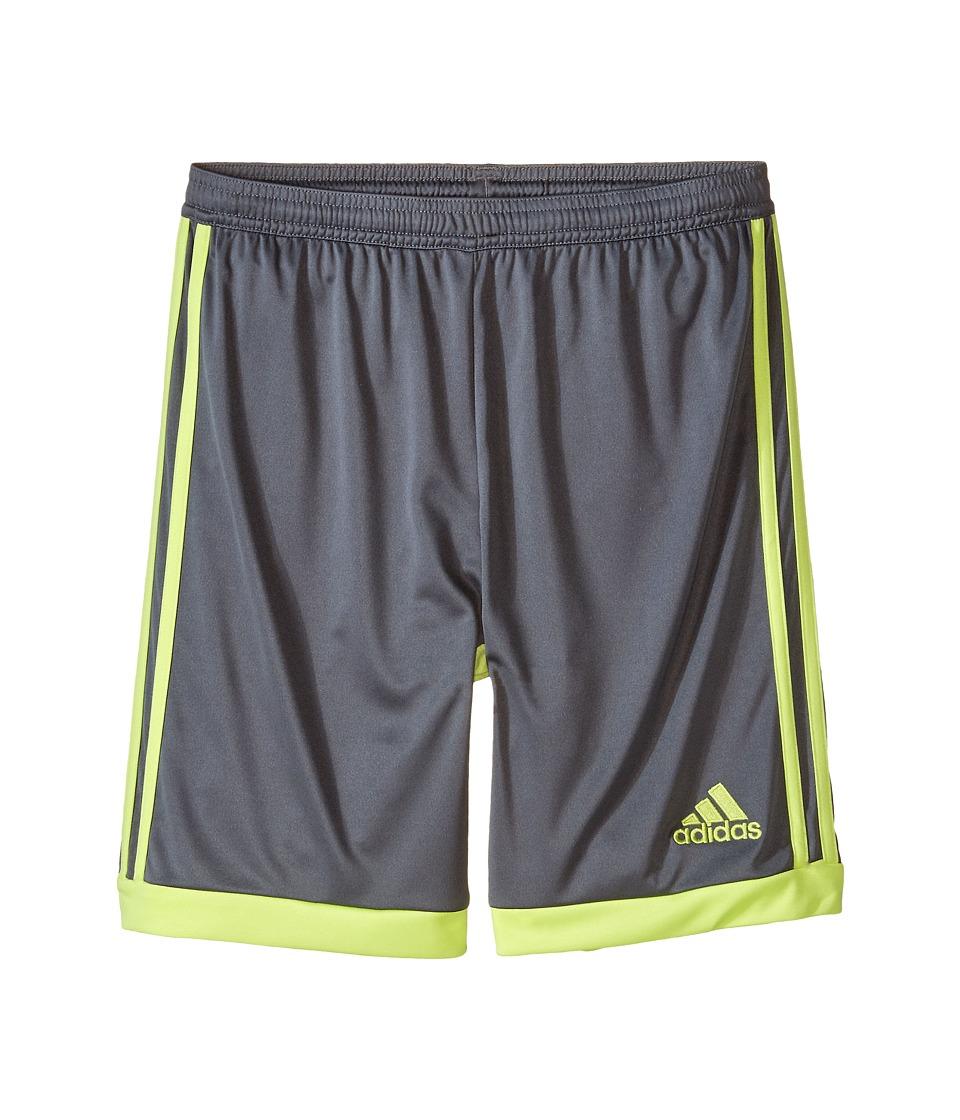 adidas Kids - Tastigo 15 Shorts (Little Kids/Big Kids) (Vista Grey S15/Frozen Yellow F15) Kid's Shorts