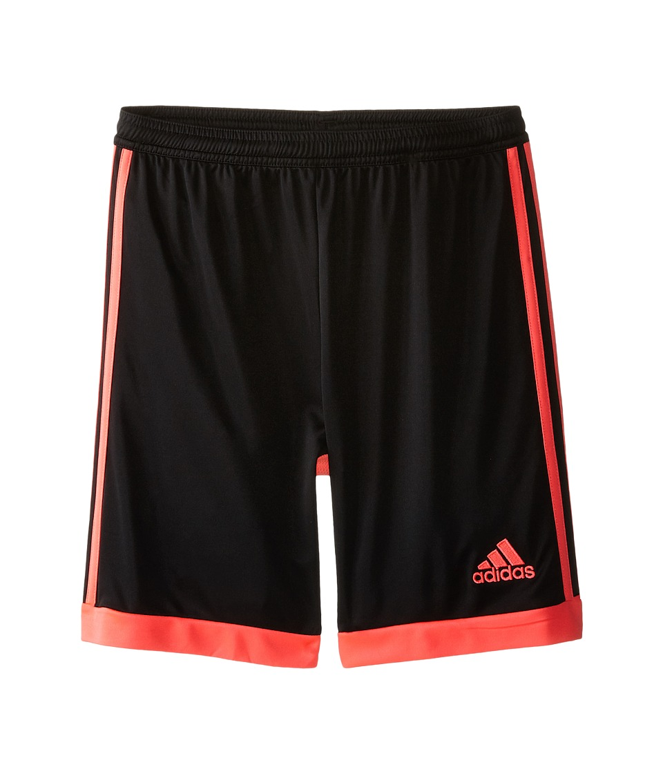 adidas Kids - Tastigo 15 Shorts (Little Kids/Big Kids) (Core Black/Flash Red S15) Kid's Shorts