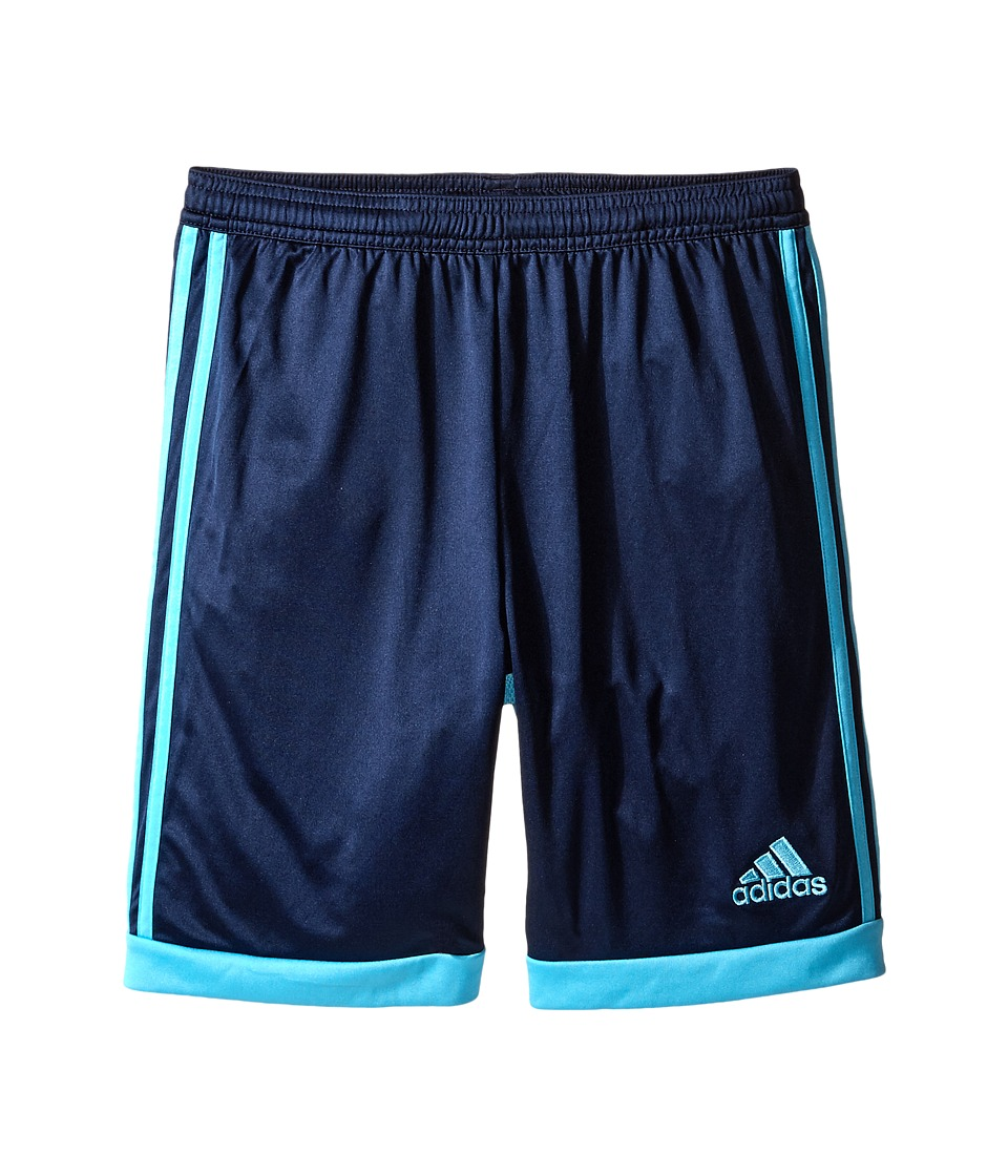 adidas Kids - Tastigo 15 Shorts (Little Kids/Big Kids) (Collegiate Navy/Bright Cyan) Kid's Shorts