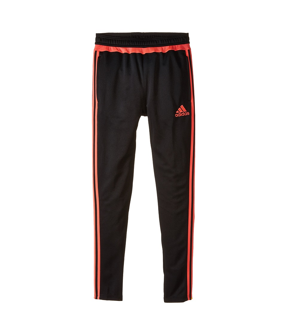 adidas Kids - Tiro 15 Training Pants (Little Kids/Big Kids) (Core Black/Flash Red S15) Kid's Workout