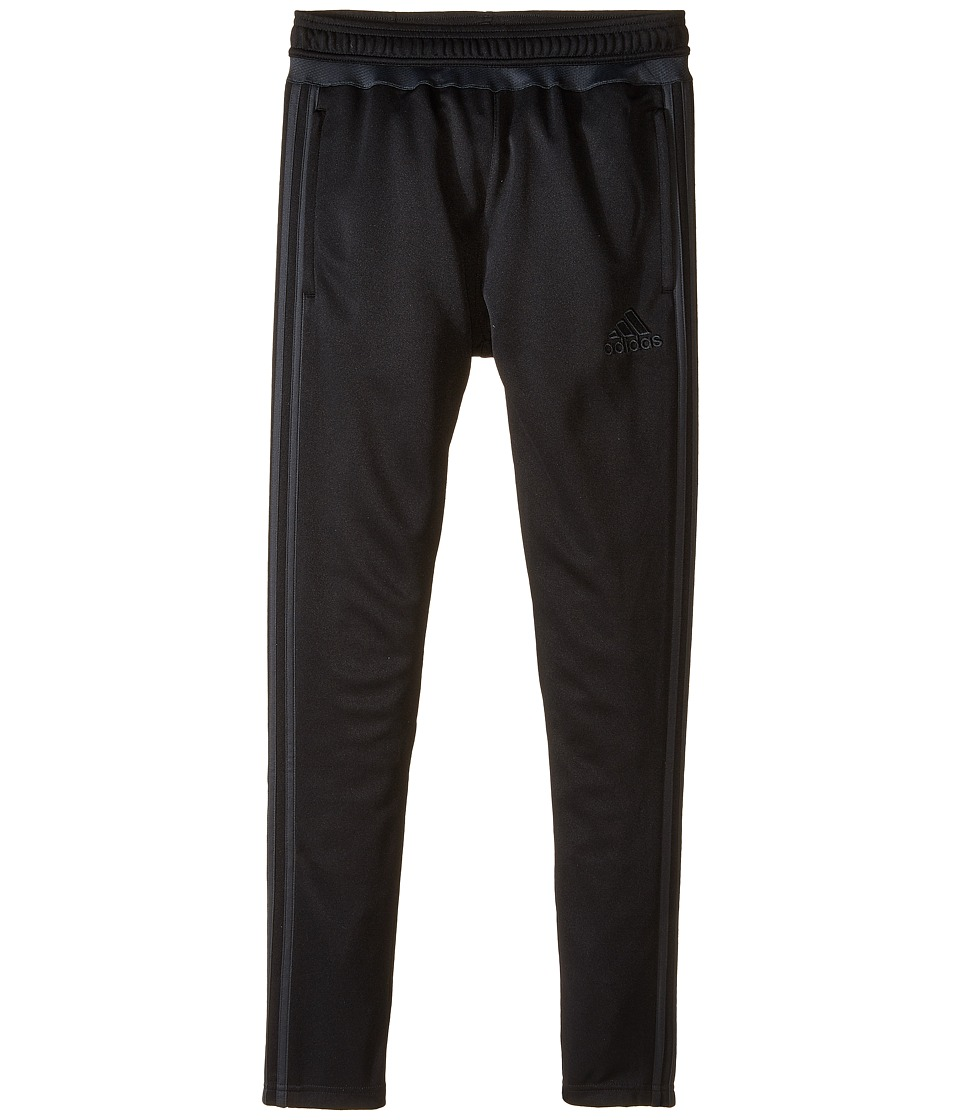 adidas Kids - Tiro 15 Training Pants (Little Kids/Big Kids) (Black/Dark Grey) Kid's Workout
