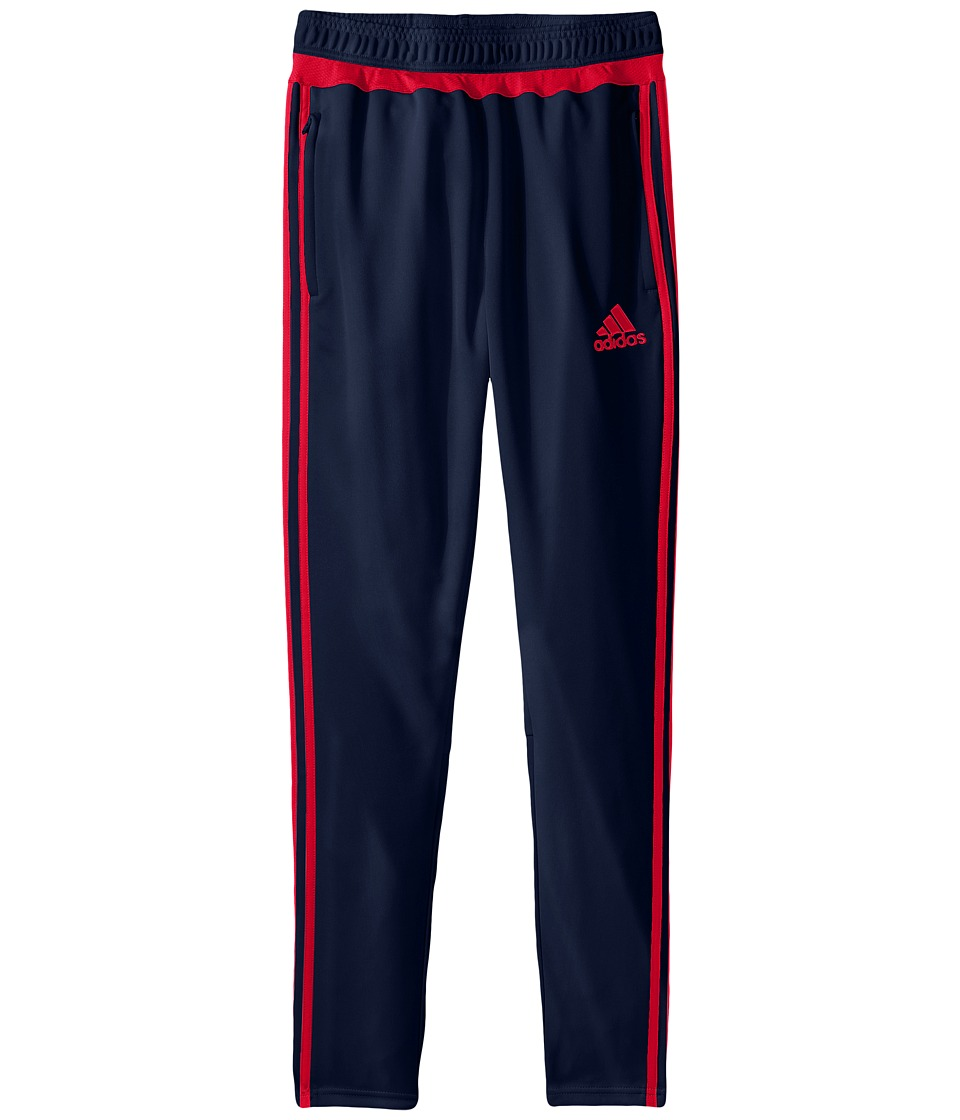 adidas Kids - Tiro 15 Training Pants (Little Kids/Big Kids) (Collegiate Navy/Vivid Red S13) Kid's Workout