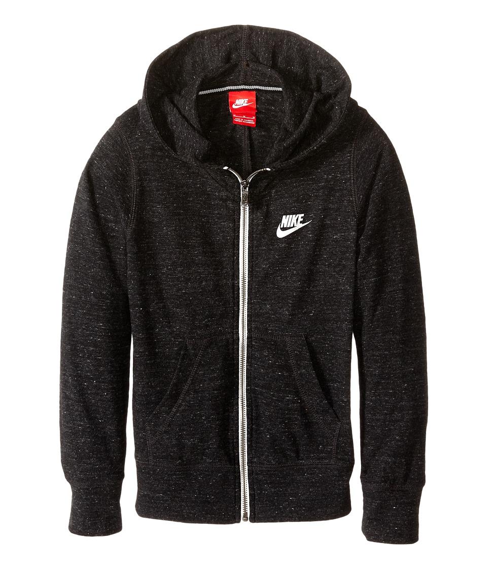 Nike Kids - Gym Vintage FZ Hoodie (Little Kids/Big Kids) (Black/Sail) Girl's Sweatshirt