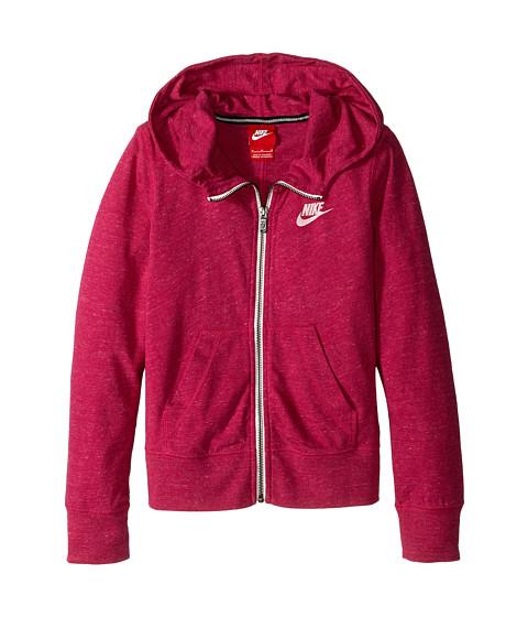 Nike Kids - Gym Vintage FZ Hoodie (Little Kids/Big Kids) (Sport Fuchsia/Sail) Girl's Sweatshirt