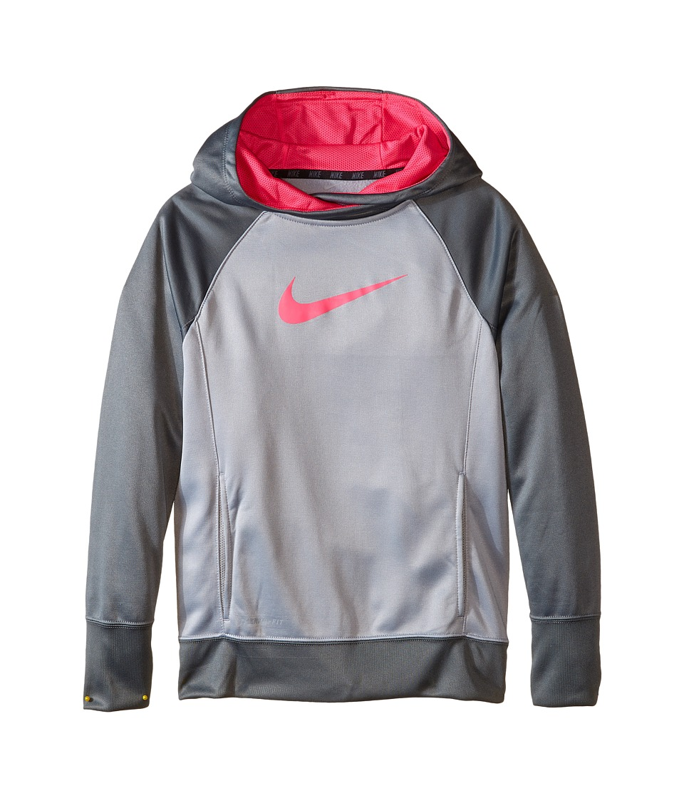 Nike Kids - KO 3.0 OTH Hoodie (Little Kids/Big Kids) (Wolf Grey/Cool Grey/Pink Pow/Pink Pow) Girl's Sweatshirt
