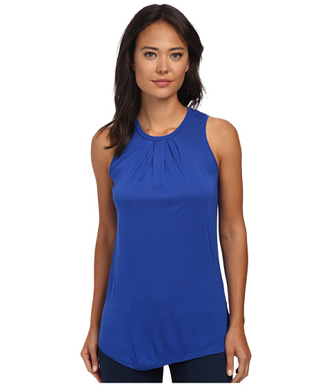 Calvin Klein Jeans - Pleated Crew Tank Top (Ultra Blue) Women