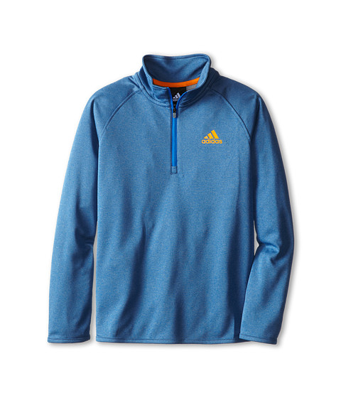 adidas Kids - Clima Core 1/4 Zip (Big Kids) (Bright Royal/Lucky Orange) Boy