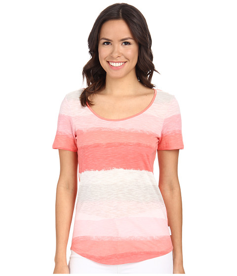 Calvin Klein Jeans - Short Sleeve Boat Neck Snap-Back Tee (Whitened Coral) Women's T Shirt