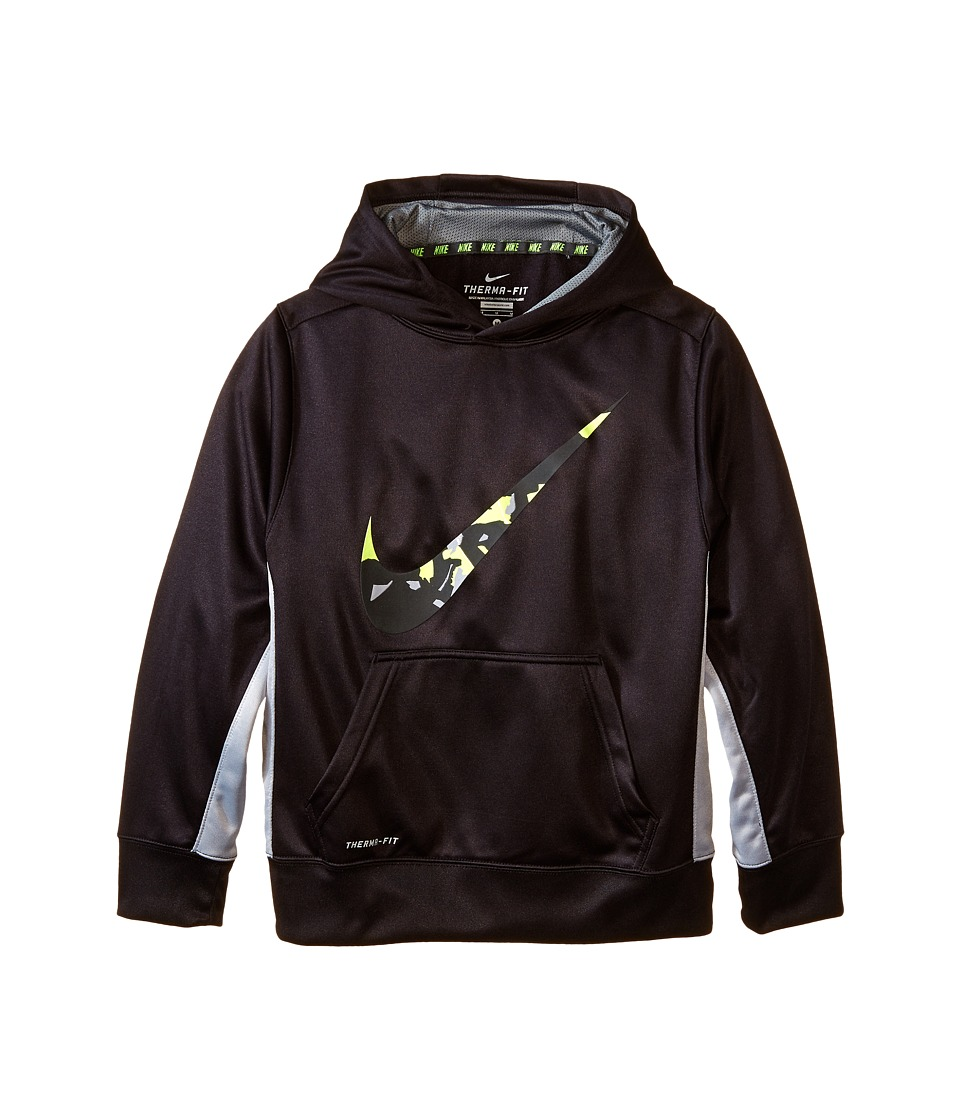 Nike Kids - KO 3.0 Swoosh Oth Hoodie (Little Kids/Big Kids) (Black/Wolf Grey/Cool Grey) Boy's Sweatshirt