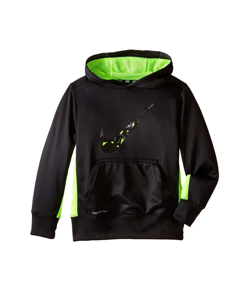 Nike Kids - KO 3.0 Swoosh Oth Hoodie (Little Kids/Big Kids) (Anthracite/Volt/Volt) Boy's Sweatshirt