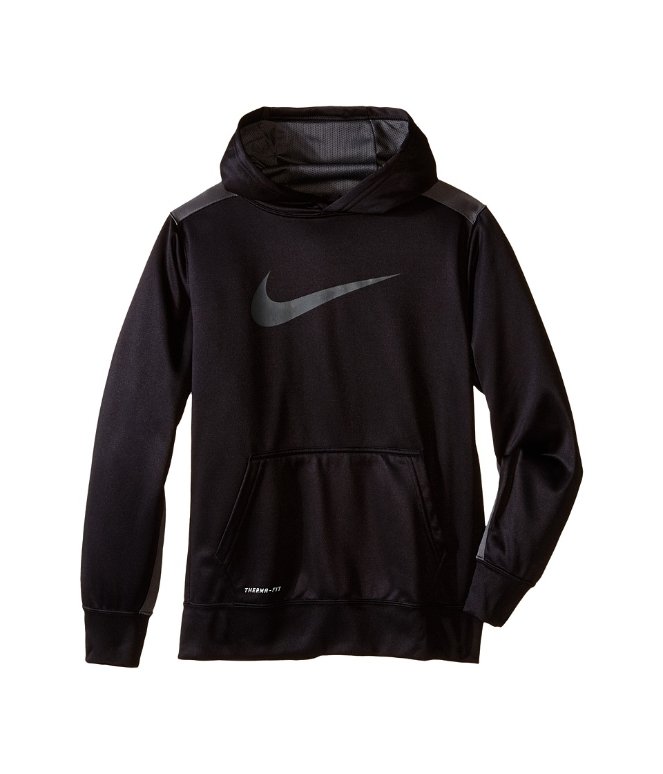 Nike Kids - KO 3.0 Pullover Training Hoodie (Little Kids/Big Kids) (Black/Dark Grey/Dark Grey) Boy's Sweatshirt