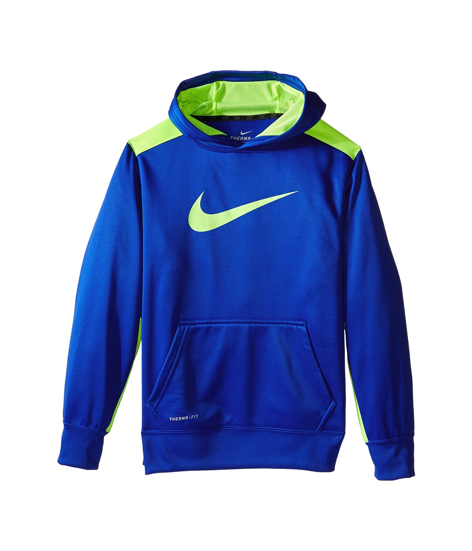Nike Kids - KO 3.0 Pullover Training Hoodie (Little Kids/Big Kids) (Game Royal/Volt/Volt) Boy