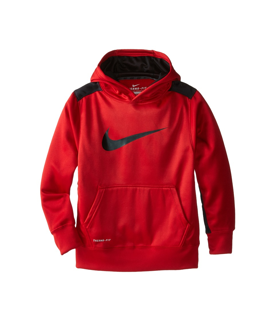 Nike Kids - KO 3.0 Pullover Training Hoodie (Little Kids/Big Kids) (Gym Red/Black/Black) Boy