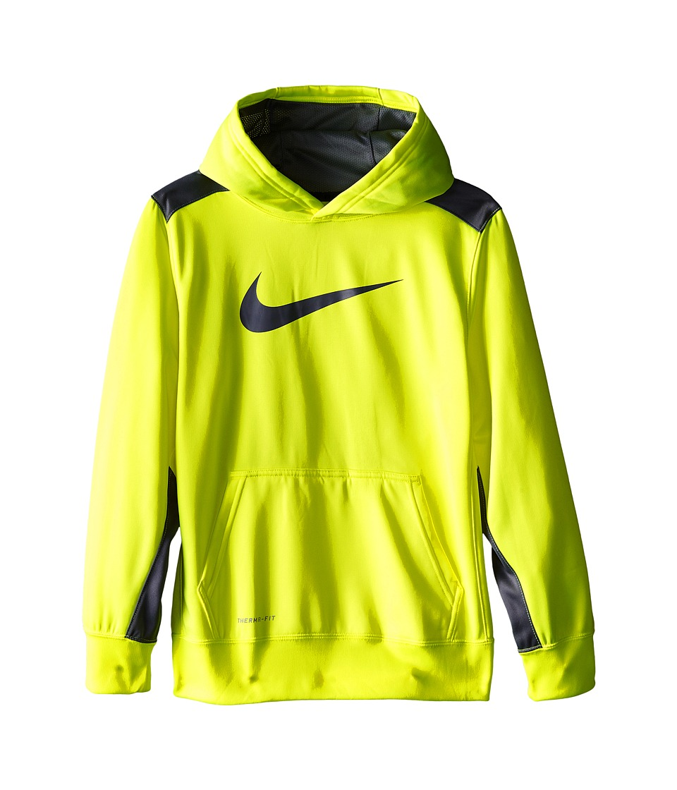 Nike Kids - KO 3.0 Pullover Training Hoodie (Little Kids/Big Kids) (Volt/Cool Grey/Cool Grey) Boy's Sweatshirt