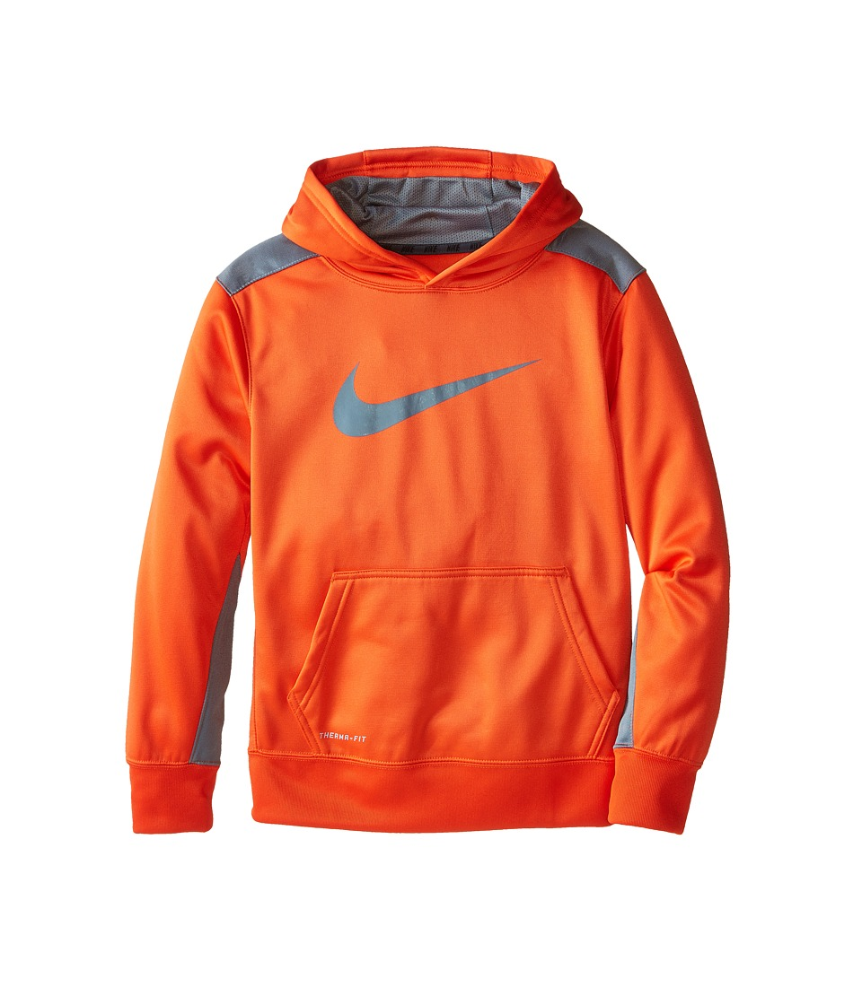 Nike Kids - KO 3.0 Pullover Training Hoodie (Little Kids/Big Kids) (Team Orange/Cool Grey/Cool Grey) Boy