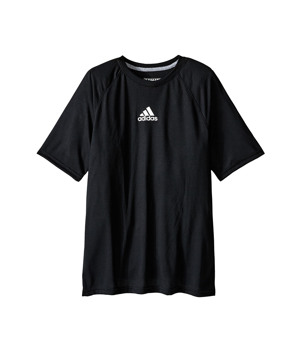 adidas Kids Ultimate Raglan Short Sleeve (Big Kids) (Black) Boy
