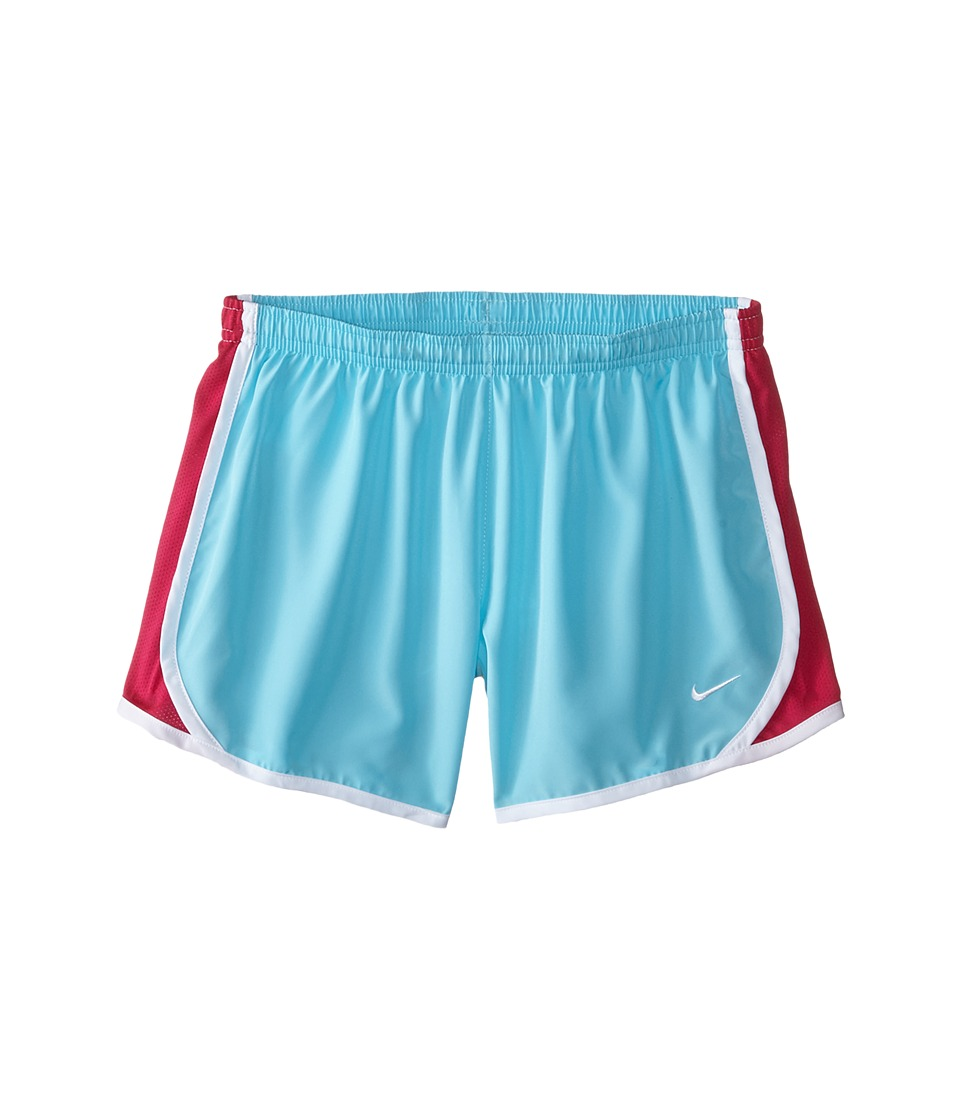 Nike Kids - Tempo Short (Little Kids/Big Kids) (Tide Pool Blue/Sport Fuchsia/White/White) Girl's Shorts