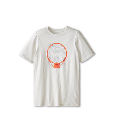 Nike Kids - Cotton Hoop Tee (Little Kids/Big Kids) (Night Silver/Team Orange/Night Silver) Boy