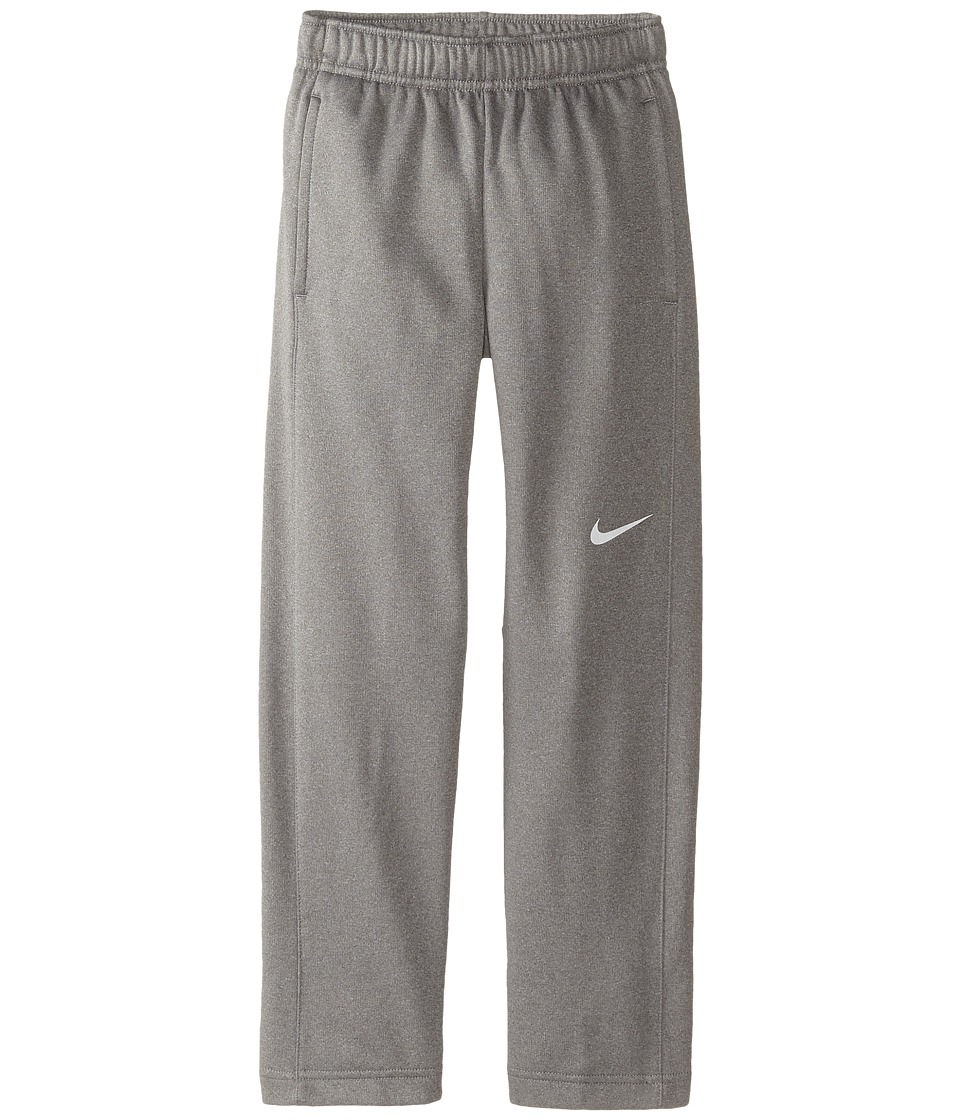 Nike Kids - KO 3.0 Fleece Pants (Little Kids/Big Kids) (Dark Grey Heather/Dark Grey Heather/White) Boy's Casual Pants
