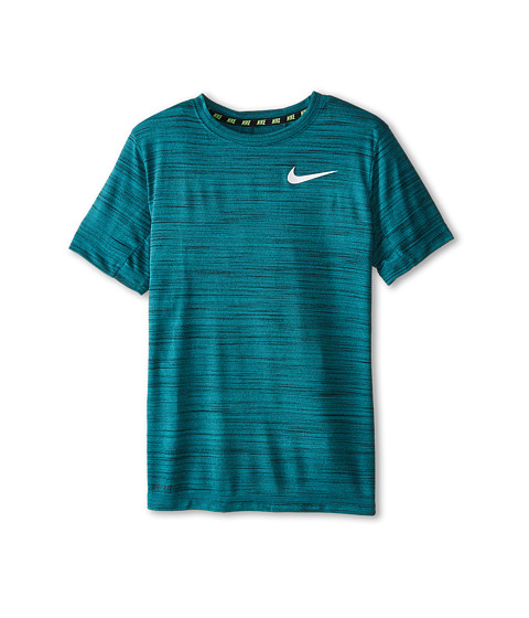 Nike Kids - DF Cool S/S Top (Little Kids/Big Kids) (Radiant Emerald/Black/White) Boy