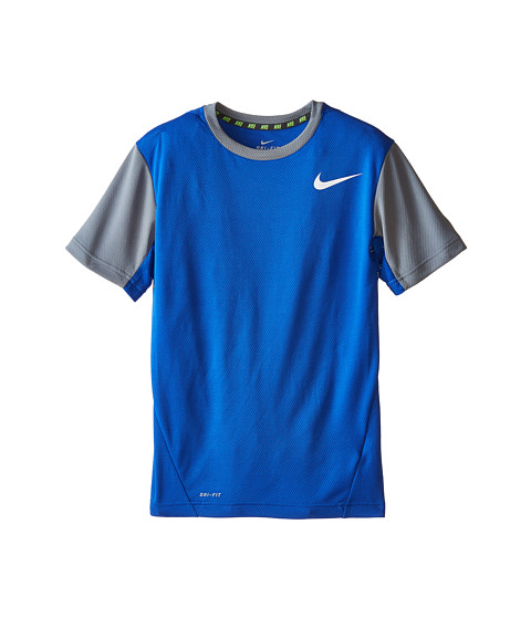 Nike Kids - Vapor Dri-FIT S/S Top (Little Kids/Big Kids) (Game Royal/Cool Grey/White) Boy's Workout