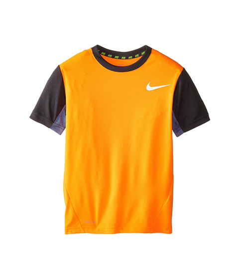 Nike Kids - Vapor Dri-FIT S/S Top (Little Kids/Big Kids) (Total Orange/Anthracite/White) Boy's Workout