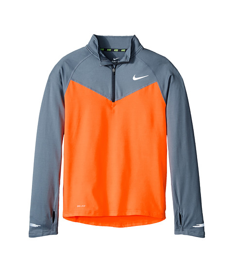 Nike Kids - Element 1/2 Zip L/S Top (Little Kids/Big Kids) (Total Orange/Cool Grey/Anthracite) Boy's Long Sleeve Pullover