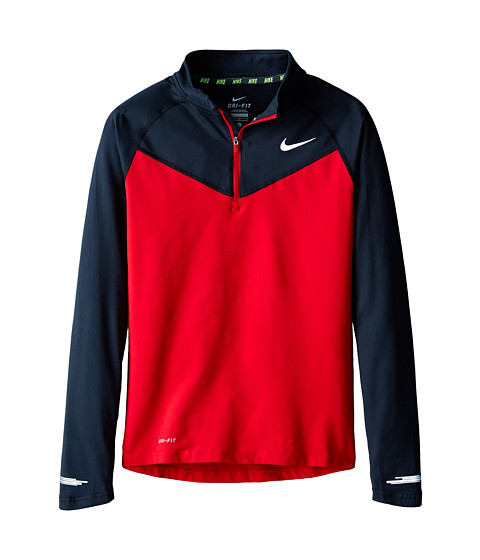 Nike Kids - Element 1/2 Zip L/S Top (Little Kids/Big Kids) (Gym Red/Black/Gym Red) Boy
