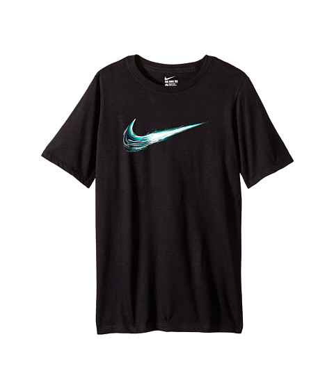 Nike Kids - Swoosh Constant Tee (Little Kids/Big Kids) (Black/Black) Boy