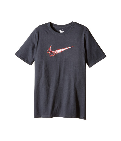 Nike Kids - Swoosh Constant Tee (Little Kids/Big Kids) (Anthracite/Anthracite) Boy
