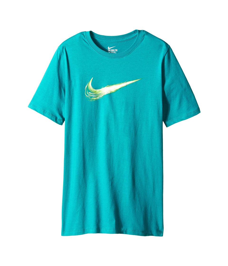Nike Kids - Swoosh Constant Tee (Little Kids/Big Kids) (Radiant Emerald/Radiant Emerald) Boy's T Shirt