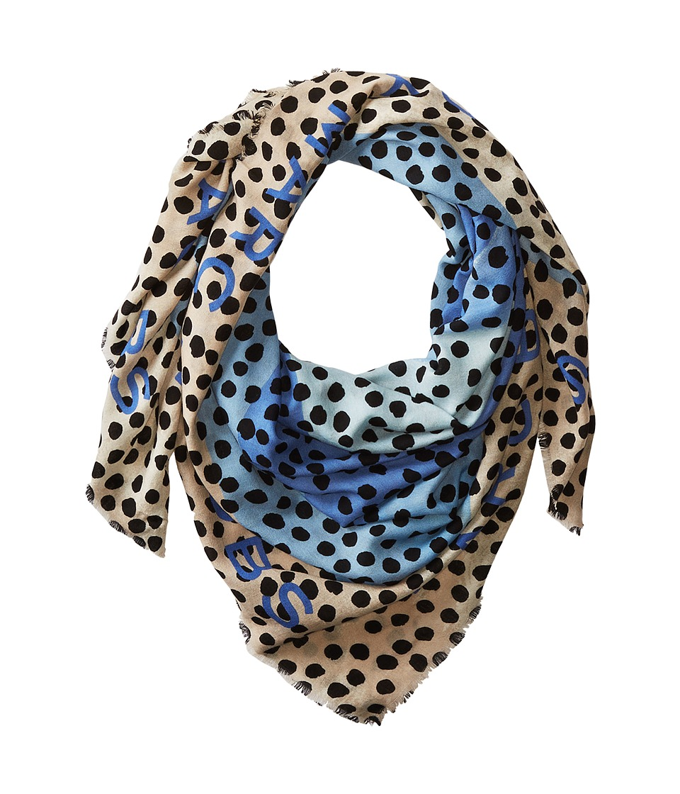 Marc by Marc Jacobs - De-Lite Dot Scarf (Conch Blue Multi) Scarves
