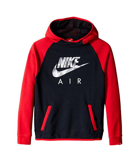 Nike Kids - YA FT Flash Oth Hdy-Air (Little Kids/Big Kids) (Black/Gym Red/Black) Boy's Sweatshirt