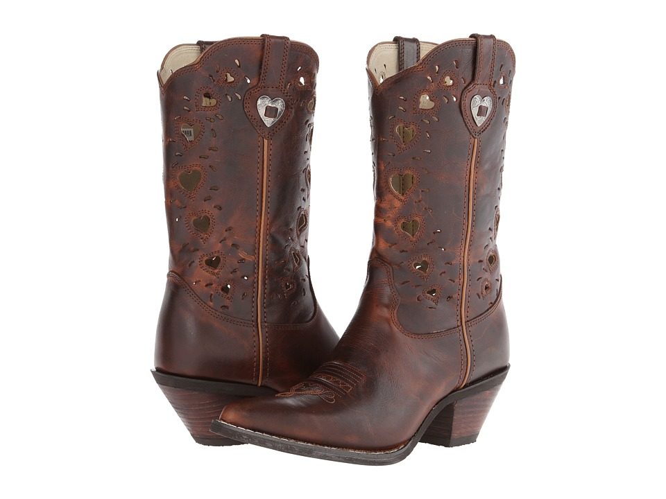 Durango Crush Heart (Saddle Brown) Cowboy Boots