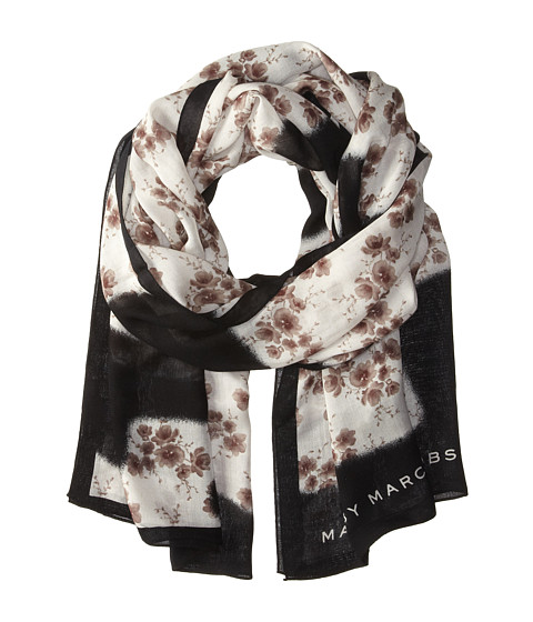 Marc by Marc Jacobs - Defaced Floral Scarf (Black Multi) Scarves