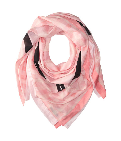 Marc by Marc Jacobs - Tissue Plaid Scarf (Cheek Pink Multi) Scarves