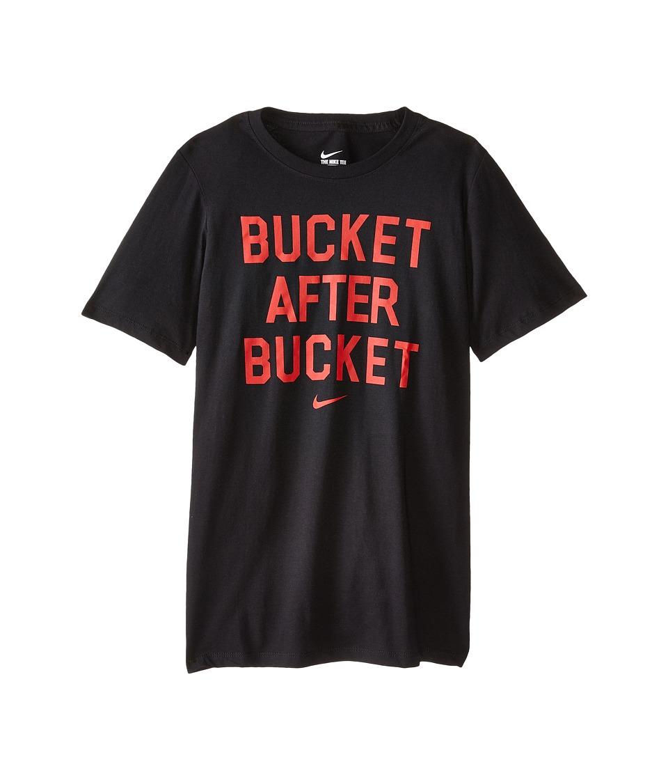 Nike Kids - NA Cotton After Bucket Tee (Little Kids/Big Kids) (Black) Boy's T Shirt