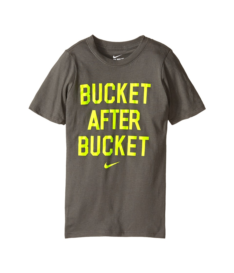 Nike Kids - NA Cotton After Bucket Tee (Little Kids/Big Kids) (Tumbled Grey) Boy