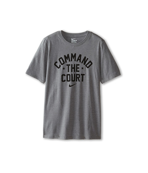 Nike Kids - NA Cotton Command The Court Tee (Little Kids/Big Kids) (Carbon Heather) Boy's T Shirt